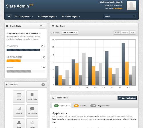 Slate Admin 2.0 - Responsive Admin Template