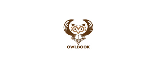 Book publish owl logos