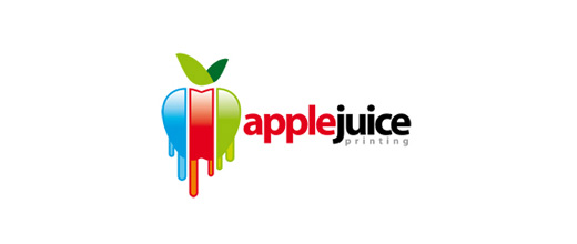 Dripping colorful apple logo