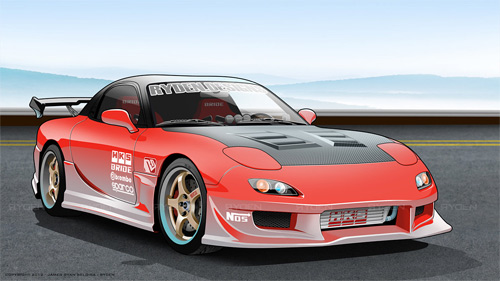 Mazda cars vexels vectors illustrations