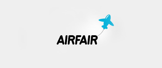 Balloon blue airplane logos design