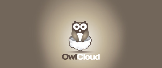 Cloud owl logos