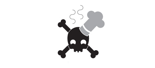 Bakery skull logo