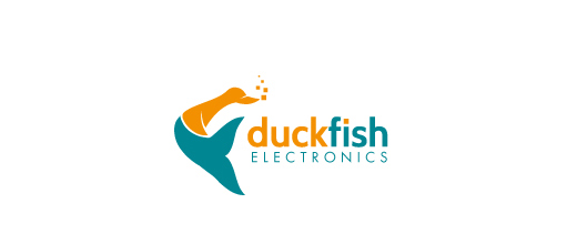 Fish company ducks logo design