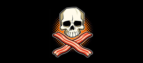 Bacon skull logo