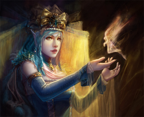Ice elf elves illustrations artworks