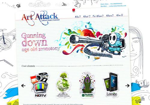Paper drawings doodle web design