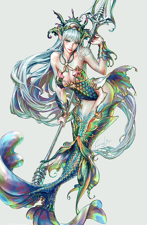 Perfect world mermaid illustrations artworks