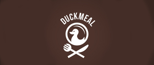 Restaurant food ducks logo design