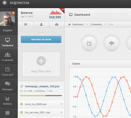 Aquincum - Premium Responsive Admin Template