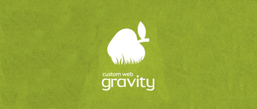 Gravity green apple logo