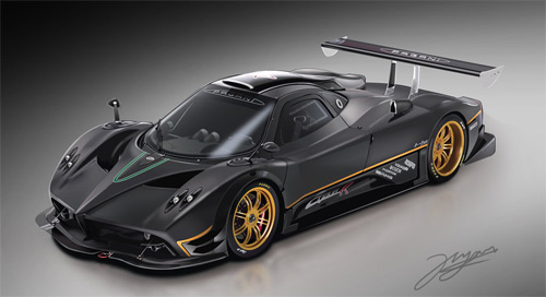 Pagani cars vexels vectors illustrations