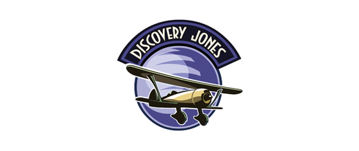 Purple airplane logos design
