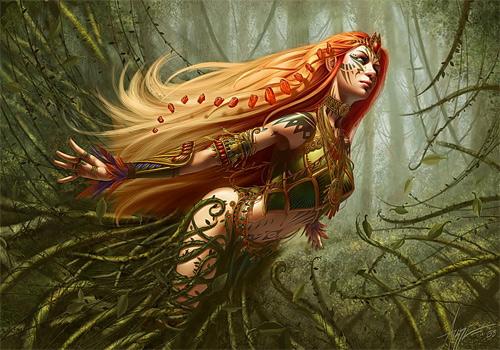 Nature forest elf elves illustrations artworks