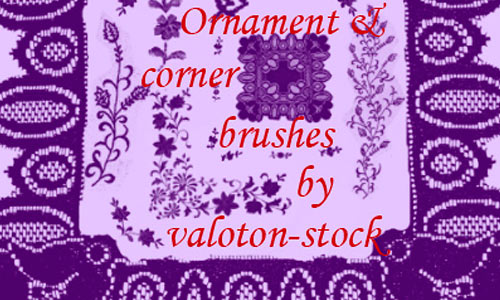 Ornament and Corner brush set