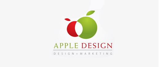 Abstract apple logo