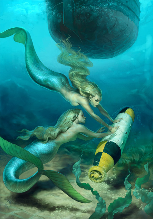Good mermaid illustrations artworks