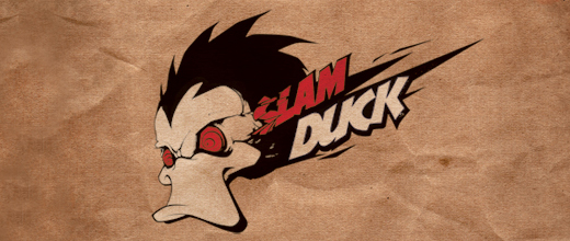 Slam ducks logo design