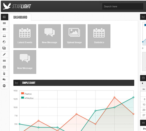 Starlight Reponsive Admin Template