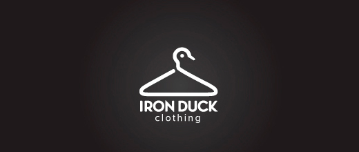 Clothing hanger ducks logo design