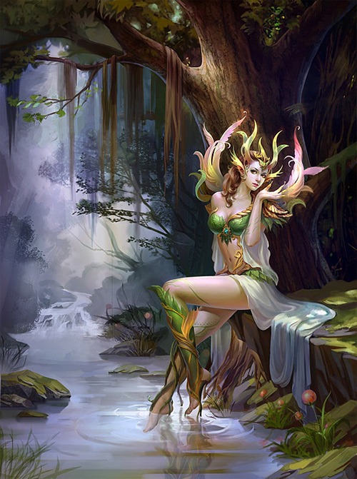 Forest elf elves illustrations artworks