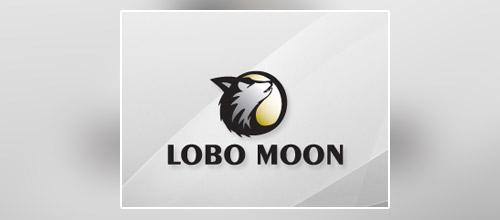 lobo wolf logo design
