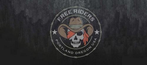 Motor bike motorcycle motorbike skull logo