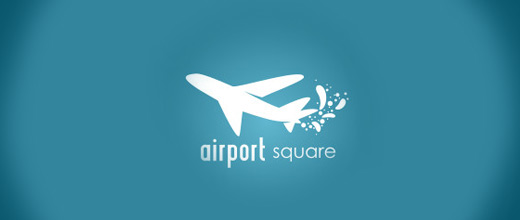 Simple airplane logos design