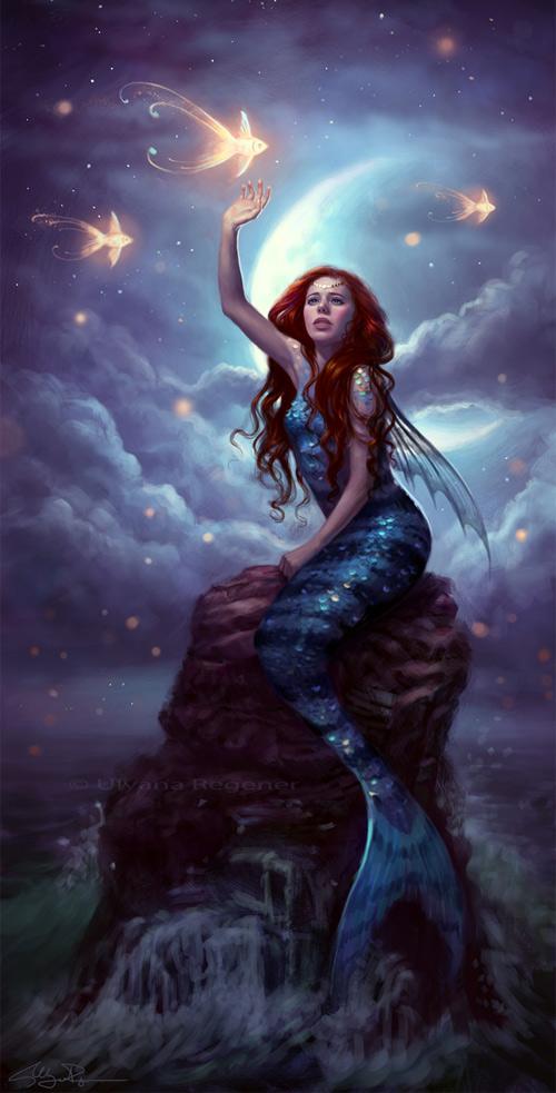 Starfish mermaid illustrations artworks