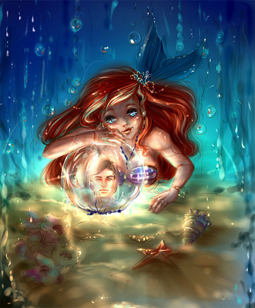 Little mermaid illustrations artworks