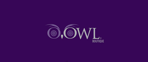 Purple boutique owl logos