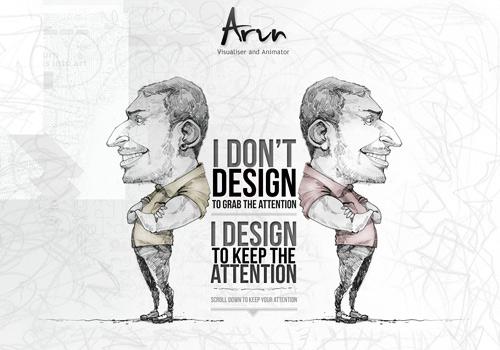 Sketch portrait doodle web design