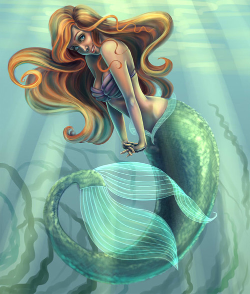 Ariel mermaid illustrations artworks