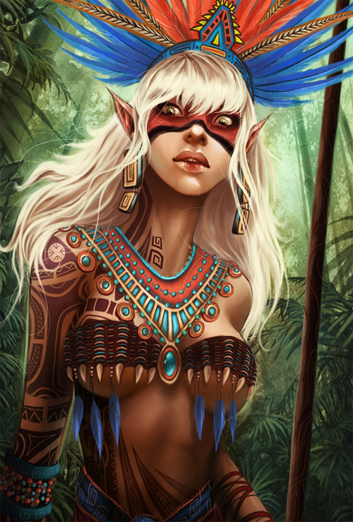 Tribal elf elves illustrations artworks