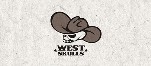 West cowboy skull logo