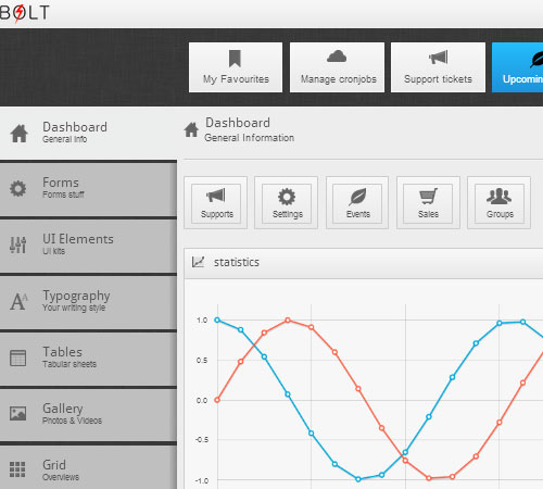 Bolt - Responsive Premium Admin Template