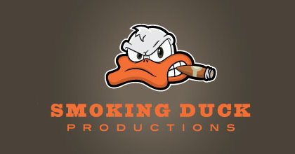 Cigar film ducks logo design