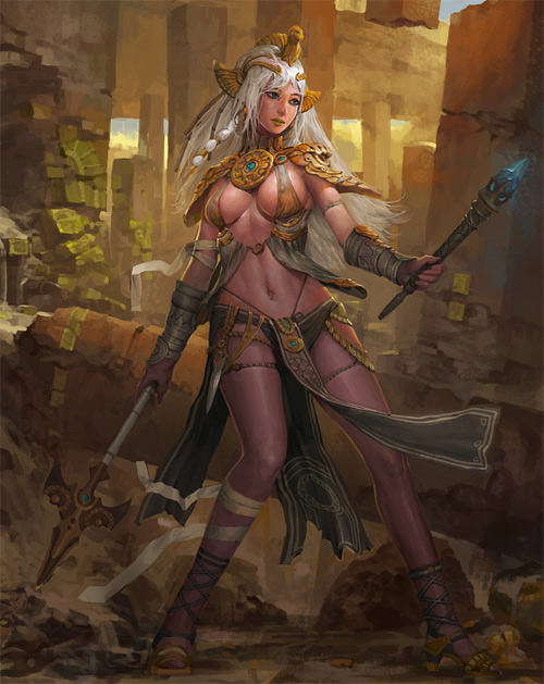 Golden elf elves illustrations artworks