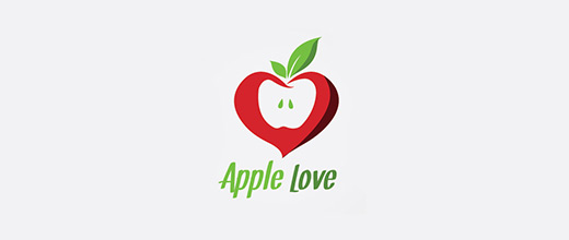 Heart love apple logo