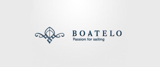 Elegant boat logos design