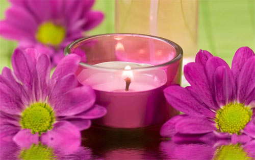 pink candle wallpaper