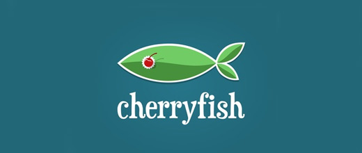Fish cherry logo designs