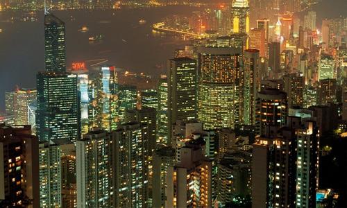 Hong Kong free high resolution skyscraper wallpaper