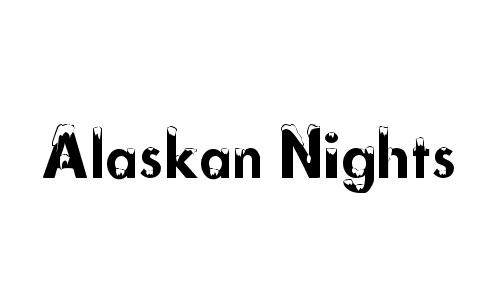 Alaskan snowy snow free fonts