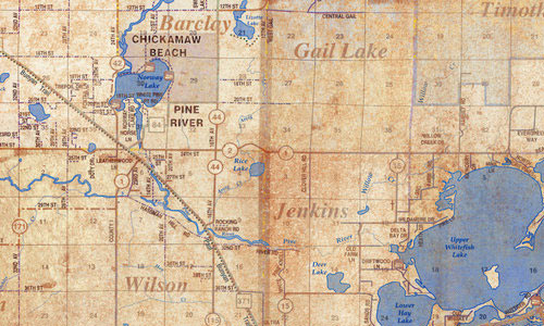Lakes Area Map texture