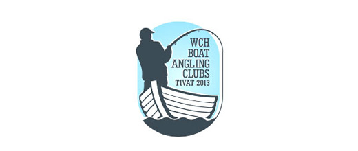 Fishing boat logos design