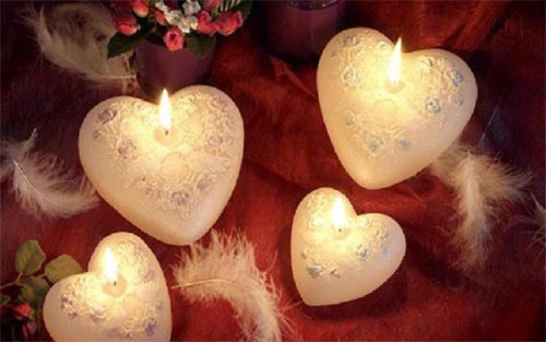 Candles Hearts wallpaper