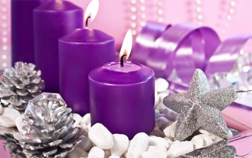 the purple candle wallpaper