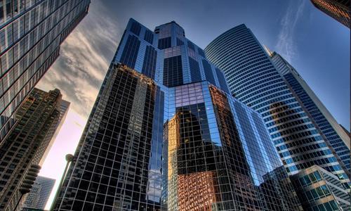 Glass free high resolution skyscraper wallpaper