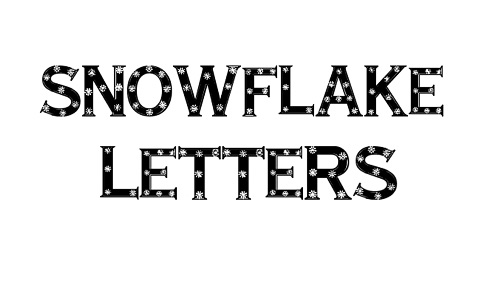 Sparkly snowflakes snowy snow free fonts